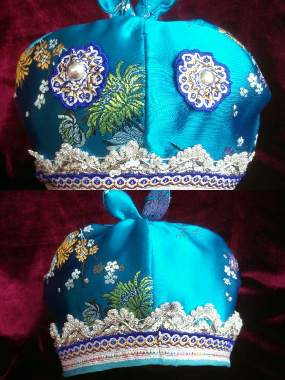苗族手工儿童婴儿帽(适合满月,百天,生日,拍照送礼!